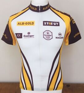 Alb-Gold Short Sleeve Cycling Jersey, Small