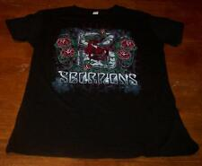 WOMEN'S TEEN VINTAGE STYLE SCORPIONS Roses T-shirt XL Metal Band NEW