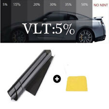 5% VLT Black Car Home Commercial Glass Window TINT TINTING Film Roll 20'' X 10FT