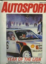 AUTOSPORT Jan 16th 1986 * World Rally STAGIONE REVIEW *