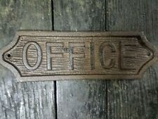 Cast Iron Antique Style OFFICE Plaque Sign Wall Decor