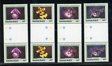 Bahamas Scott #636-639 MNH GUTTER PAIRS Flowers Orchids FLORA Christmas $$