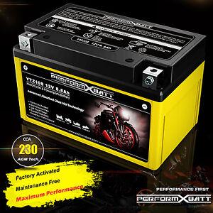 AGM Gel Battery YTZ10S Yamaha YZF R6 R6S YZF-R1 FZ8 MT07 MT09 YFM350 XP500 Tmax