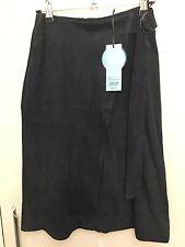 Kookai Germaine Suede Skirt Midnight Size 34