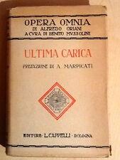 ULTIMA CARICA-A. ORIANI-Cappelli 1936-2 ED-copia numerata