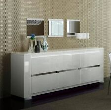 Italian Made White High Gloss Dining Buffet Elegance