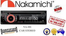 Nakamichi NA101 CD/USB/MP3/FM Receiver Head Unit Car Stereo Single Din - *RFB