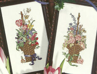 Flower Baskets Cross Stitch Pattern Chart from a magazine 2 floral designs