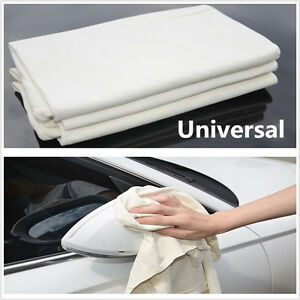 1 Pcs Chamois Cleaning Towel Genuine Leather Sponge Cloth Towel For Car Washing