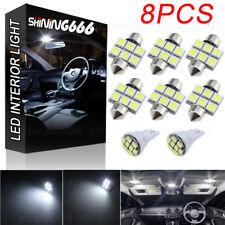 8x White LED Bulb Map Dome License Plate Light Interior LED Package Kit T10 31MM