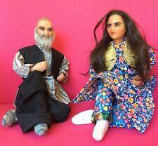 "Antique Persian Wax Dolls Rare 12"" Handmade"