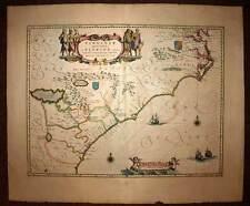 Carte géographique ancienne AMERIQUE ETAT DE FLORIDE VIRGINIE Blaeu 1640