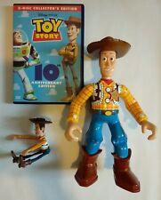 "Disney TOY STORY Woody 10"" figure Walkie Talkie Radio/mini figure/DVD Bundle"