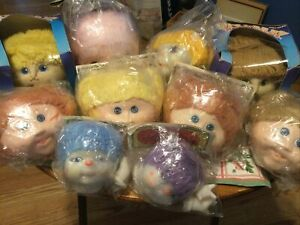 Lot Of 10 Vintage Doll Heads, Baby Doll, Baby  Toothie,Darice , Fiber-Craft NEW!