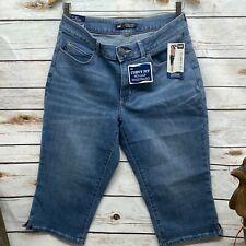 Lee Curvy Fit Denim Capri 10 Medium Stretch NWT Modern Series Skimmer Jeans