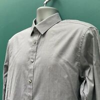 "Calvin Klein Slim Fit Grey Polka Dot Shirt - 16.5"" Collar - Long Sleeve"