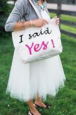 I Said Yes Just Engaged Bride To Be Fashion Bridal Tote Bag Future Mrs Bag