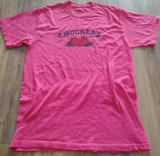 Smucker's Pink T-shirt Jam Jelly Strawberry Adult Size M Great Condition