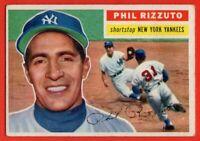 1956 Topps #113 Phil Rizzuto VG-VGEX CREASE HOF New York Yankees  FREE SHIPPING