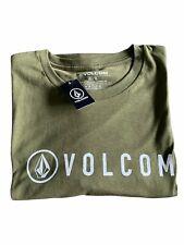 New listing New Volcom Header Olive Green Summer Surf Skate T Shirt Mens Size XL AH9210340