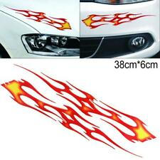 Racing Car Body Bumper Hood Scratch Stickers Red Flame Home Wall Decal 38 x 6CM