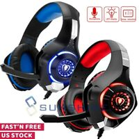 Pro Gamer Headset For PS4 PlayStation 4 Xbox One & PC Computer Stereo Headphones
