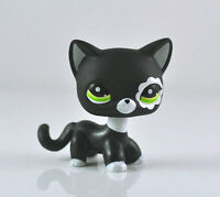 Pet Black Short Hair Cat Green Eyes Cute Girl Child LPS Toys #2249