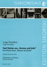 5 Pieces from Romeo and Juliet Clarinet and Piano Sheet Music Book 050601637