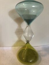 Tri-Color Glass Hourglass Sand Timer 30min Living Room, Study or Kitchen Decor