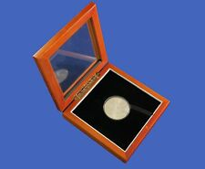 Wood Display Glass Top Box Large Coin Capsule / Challenge Coin