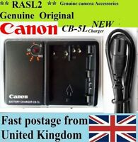 Genuine CANON Charger,CB-5L BP-511A EOS 50D 40D 30D 20D 10D,5D MK1,PowerShot G6