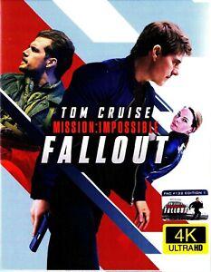NEW Mission: Impossible - Fallout 4K XL Full Slip SteelBook Blu-ray FilmArena