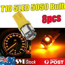 8 x Led 194 T10 5050 5SMD Wedge Bulb Car Trunk Turn Signal Lights Amber/Yellow