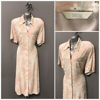 M&S Beige Mix Floral Buttoned Dress UK 18 EUR 46 US 14