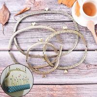 Heart DIY Purse Handbag Handle Coin Bag Metal Kiss Clasp Lock Frame Handle M_ti