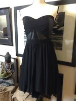 L'atiste by Amy Strapless Dress Black Sz M