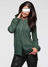Markenlose hüftlange Damenblusen, - tops & -shirts aus Polyester