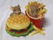 Charming Tails Friendship Made to Order mouse figurine Fitz and Floyd hamburger