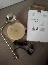 Endon Satin Brass Low Energy Articulated Desk Table Lamp 102-TLSB no light bulb