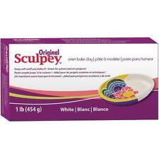 SCULPEY ORIGINAL - Oven Bake Polymer Clay - 454gm Block (1lb) - WHITE