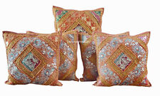 Indian Handmade Vintage Work Cushion Pillow Cover Ethnic Home Decor Art Set Of 5