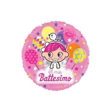 Palloncino mylar rotondo Cm. 45 - Il mio Battesimo rosa