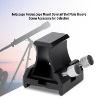 Telescope Finderscope Mount Dovetail Slot Plate Groove Screw for Celestron LJ