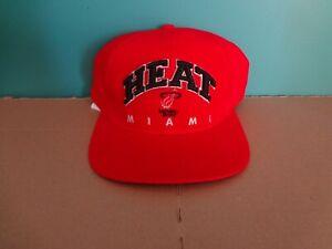 Miami Heat Snapback Hat Drew Pearson Supersport OSFA NEW Vintage NBA