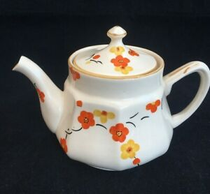 SWINNERTONS Hampton Ivory Teapot Orange Yellow Flowers