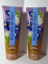 Bath Body Works Wild iris Honey Scrub x2