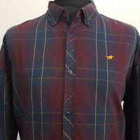 Mustang Mens Shirt 2XL Long Sleeve Multicoloured Regular Fit Check Cotton