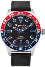 Superdry SYG143B Mens Retro Leather Black Watch