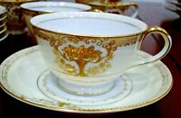 Occupied Japan Porcelain Tea Cup & Saucer Sunny China Pattern Gold Trim