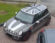 Custom BMW Mini Cooper S R56 Roof Stickers Vinyl Decals Union Flag Graphics